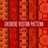 Tonalità senza cuciture cinesi di rosso dei modelli royalty illustrazione gratis