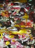 Tonalités foncées d'or rouge vert blanc d'aquarelle de peinture, fond abstrait Photos stock