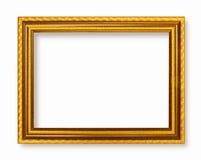 Tonar guld- mörker för bildram den wood ramen Royaltyfri Fotografi