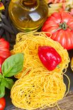 Tonarelli raw pasta Stock Photo