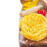 Tonarelli raw pasta Royalty Free Stock Photography