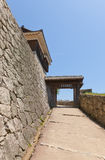 Tonashimon port (1800) av den Matsuyama slotten, Japan Royaltyfria Bilder