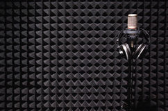 Tonaufnahmestudio Stockfotos