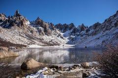 Toncek See in Cerro Catedral lizenzfreies stockfoto