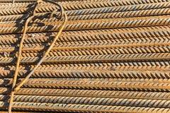 Tondini di ferro ondulati Fotografie Stock