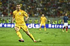 Tondo 2012 (gruppo D) di qualificazione dell'euro Romania-Francia Fotografie Stock