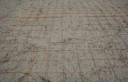 Tondo per cemento armato per aggiungere forza al calcestruzzo. Immagine Stock Libera da Diritti