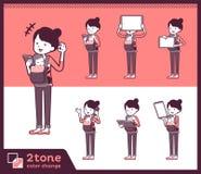 2tone类型母亲和baby_set 06 向量例证