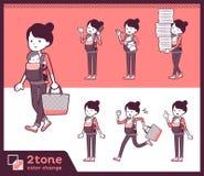 2tone类型母亲和baby_set 02 皇族释放例证