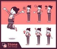 2tone类型母亲和baby_set 01 皇族释放例证
