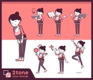 2tone类型母亲和baby_set 05 库存例证