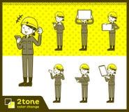 2tone类型盔甲建筑工人woman_set 06 皇族释放例证