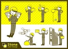 2tone类型盔甲建筑工人woman_set 11 向量例证