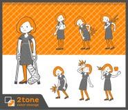 2tone类型鲍伯头发礼服woman_set 08 图库摄影