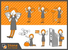 2tone类型鲍伯头发礼服woman_set 11 免版税库存照片
