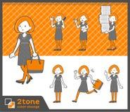 2tone类型鲍伯头发礼服woman_set 02 库存照片