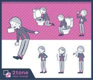 2tone类型grandmother_set 09 库存例证
