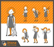 2tone Art Bob-Haarkleid-woman_set 08 vektor abbildung