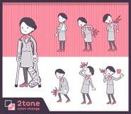2tone Art Flugbegleitpersonal women_set 08 stock abbildung