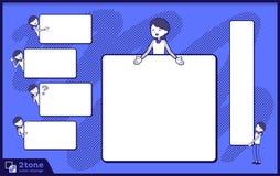 2tone Art Speicherpersonal blaues einheitliches women_set 14 Lizenzfreies Stockbild