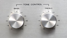Tone Control Knob. Antique Tuner Knobs Stock Photography