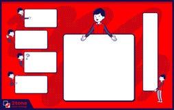 2tone het personeels rode eenvormige men_set 14 van de typeopslag Royalty-vrije Stock Afbeelding
