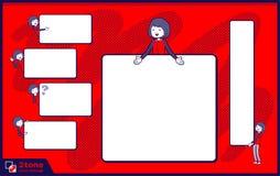 2tone het personeels rode eenvormige women_set 14 van de typeopslag Stock Foto's