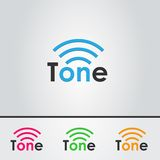 Tone, logo design. Logo for the music and sound themes Stock Photography