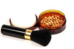 Tone powder makeup  on white Royalty Free Stock Photography