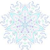 Tone Spectrum Blue Mandala fraîche Photographie stock libre de droits
