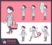 2tone type Cabin attendant women_set 02. Design Stock Image