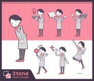 2tone type Cabin attendant women_set 05. Design Stock Image