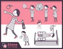 2tone type Cabin attendant women_set 10. Design Stock Photos