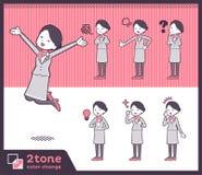 2tone type Cabin attendant women_set 01. Illustration Stock Photography