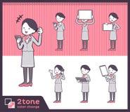 2tone type Cabin attendant women_set 06. Design Stock Image