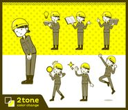 2tone type helmet construction worker woman_set 05. Design Royalty Free Stock Images