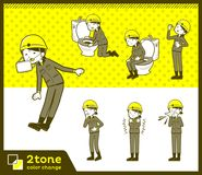 2tone type helmet construction worker woman_set 09. Design Stock Images