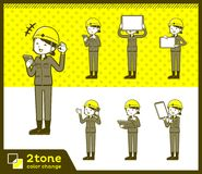 2tone type helmet construction worker woman_set 06. Design Stock Photography
