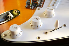 Tone and volume knobs Royalty Free Stock Images