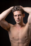 Toned Fit Shirtless Young Man Stock Photo