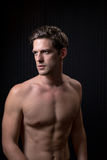 Toned Fit Shirtless Young Man Stock Photography