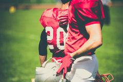 American football players in action Royalty Free Stock Images