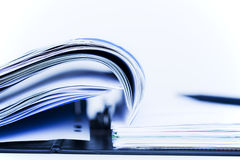 Toned image of binder with documents. Stock Image