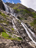 Toned image large stepped waterfall Royalty Free Stock Image