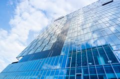 Toned image of modern office building, underside view Stock Image