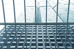 Toned image of modern office buildings Royalty Free Stock Photography
