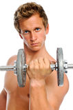 Toned man working out Stock Image