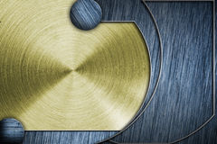Toned metal panel Royalty Free Stock Photography