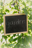 Toned photo of blackboard with text Royalty Free Stock Images