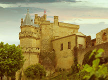 Toned photo of old medieval castle Stock Photos